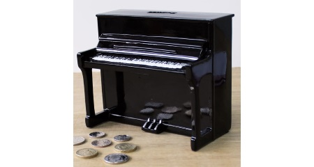 Piano Shaped Moneybox