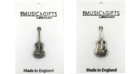 Music Gift Pewter Guitar Pins