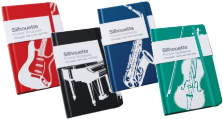 Music Themed A6 Note Book