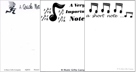 Music Themed Note pads