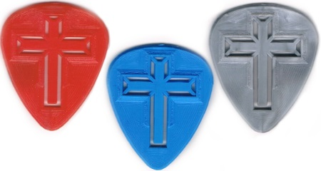 Molded Cross Guitar Picks