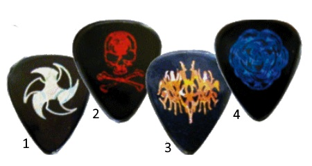 Metalic Guitar Picks
