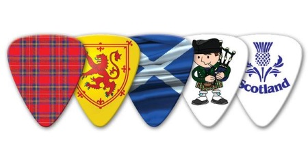 Scotish Themed Guitar Picks