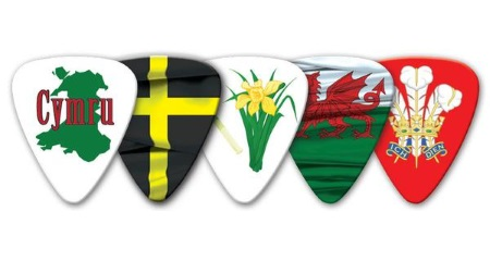 Wales Themed Guitar Picks