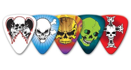 GA Skull Guitar Picks