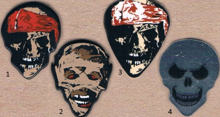 Hot Pick Guitar Picks with Pirate Skulls