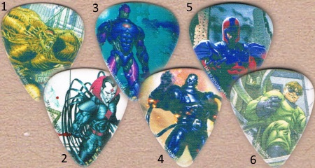 Marvel Villians Guitar Picks