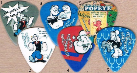 Popeye Guitar Picks