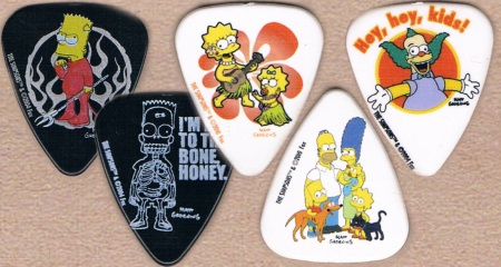 The Simpsons Guitar Picks
