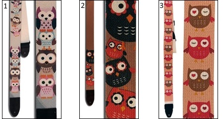 Hot Picks Gitties Owls Guitar Strap